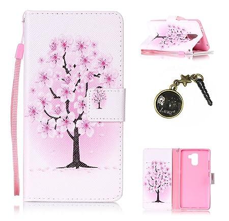 für Huawei Honor 7 Hülle,Hochwertige Kunst-Leder-Hülle mit Magnetverschluss Flip Cover Tasche Leder [Kartenfächer] Schutzhüll