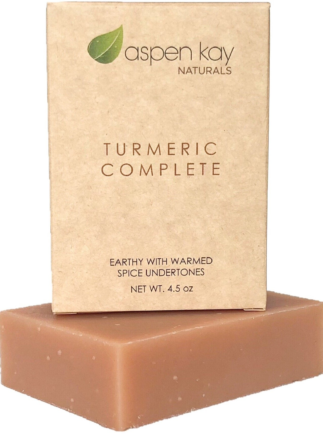 Organic Turmeric Soap - Natural and Organic - Loaded with Organic Turmeric. Gentle Soap. 4.5oz Bar. (Turmeric Complete 1 Pack)