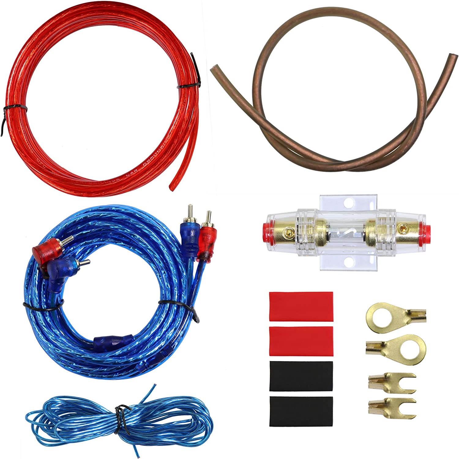 subs and amp wiring amazon com 10 gauge car amp wiring kit    welugnal a car amplifier  amazon com 10 gauge car amp wiring kit
