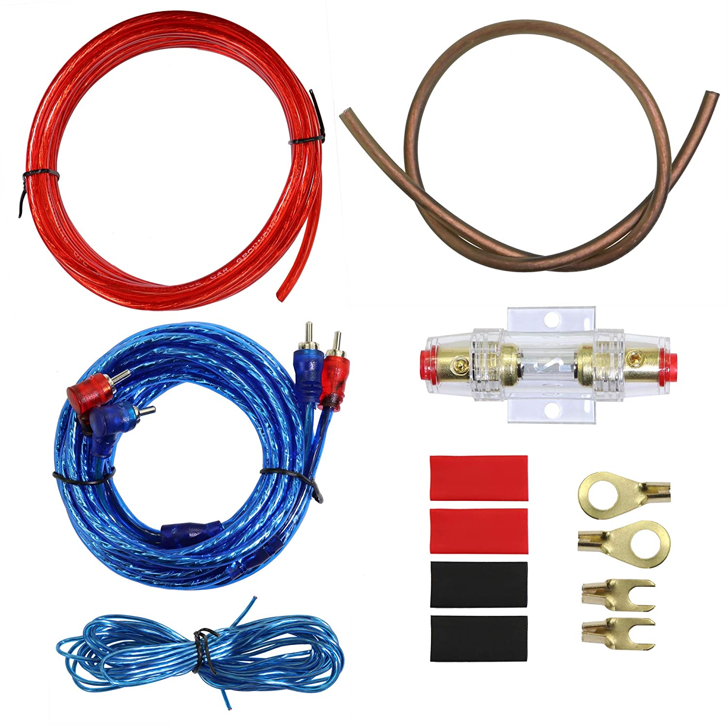 10 Gauge Car Amp Wiring Kit –Welugnal A Car Amplifier Install subwoofer Wire Wiring Kits Helps You Make Connections and Brings Power to Your Radio, Subwoofers and Speakers Amp Power Wire 81ErIzsghVL