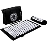 "Dr Relief Acupressure Mat 28"" x 17"" - Shiatsu Intervention Mat & Pillow Gift Set - Quick Back & Neck Pain Relief for Men…"