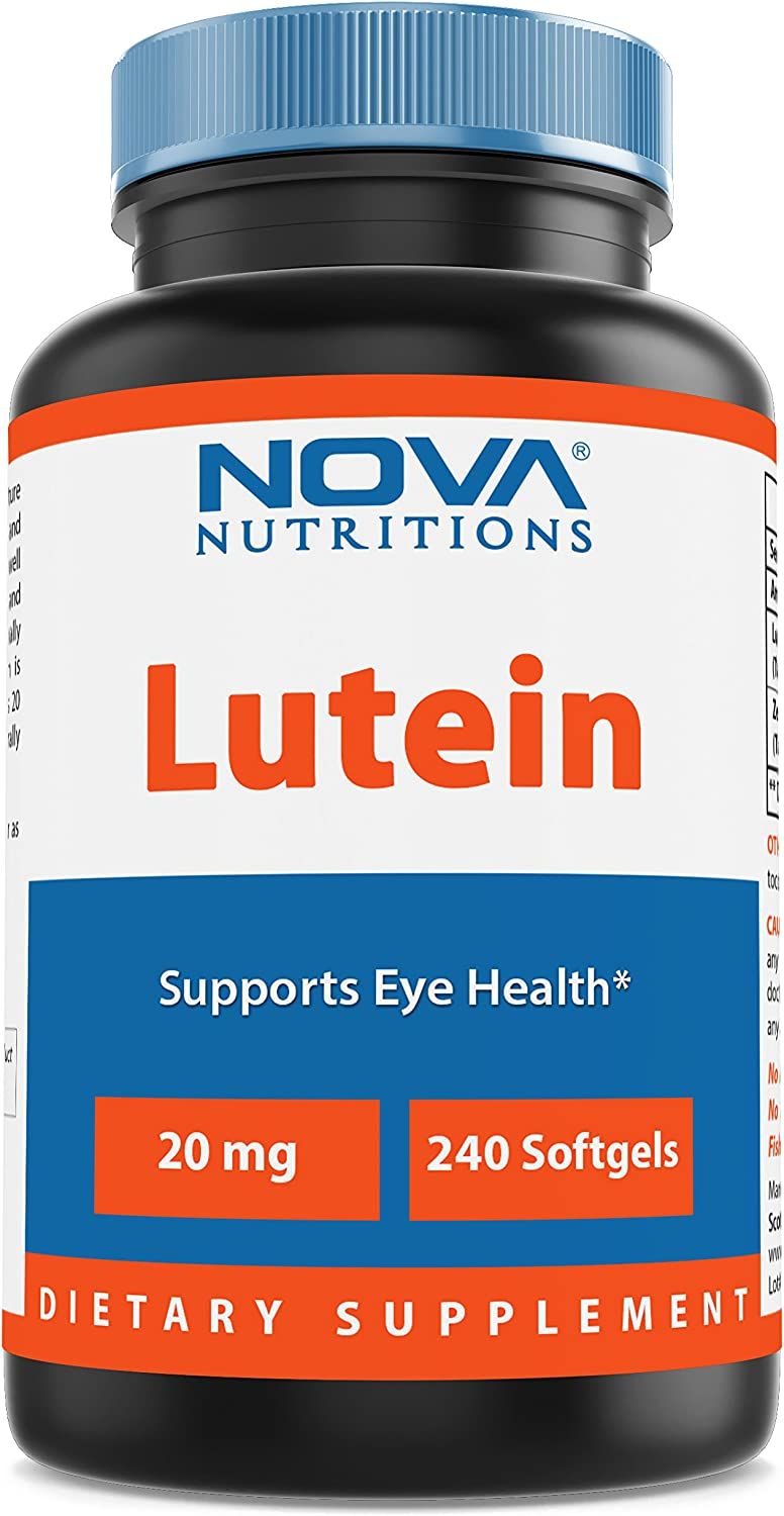 Nova Nutritions Lutein 20 mg with Zeaxanthin 240 Softgels