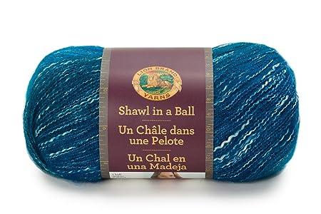 Graceful Green Lion Brand Yarn 828-306 Shawl in A Ball