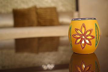 Buy Open Mouth Tea Light Holder Terracotta Home Decorative