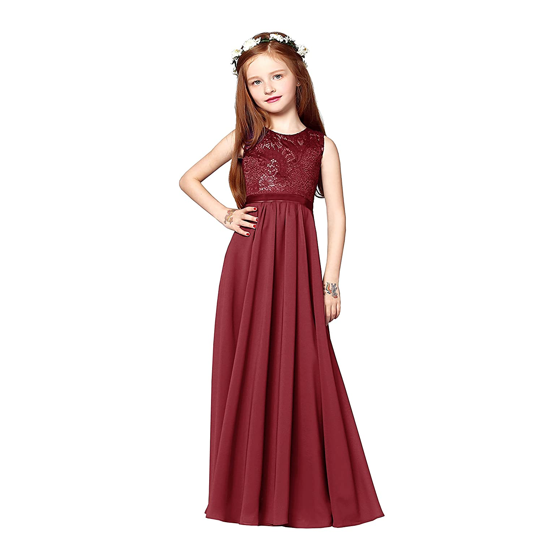 angel fashion Charming Chiffon Princess Flowergirl Party Junior Wedding Bridesmaid Dress 6-14: Amazon.co.uk: Clothing