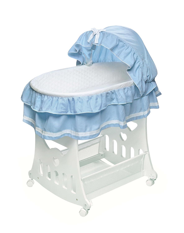 Amazon.com : Badger Basket Portable Bassinet U0027N Cradle With Toybox Base,  Blue : Bassinets And Cradles : Baby