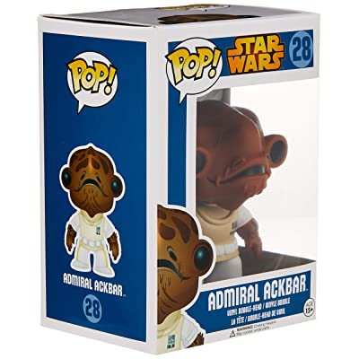 Funko POP Star Wars: Admiral Ackbar Bobble Figure: Toys & Games