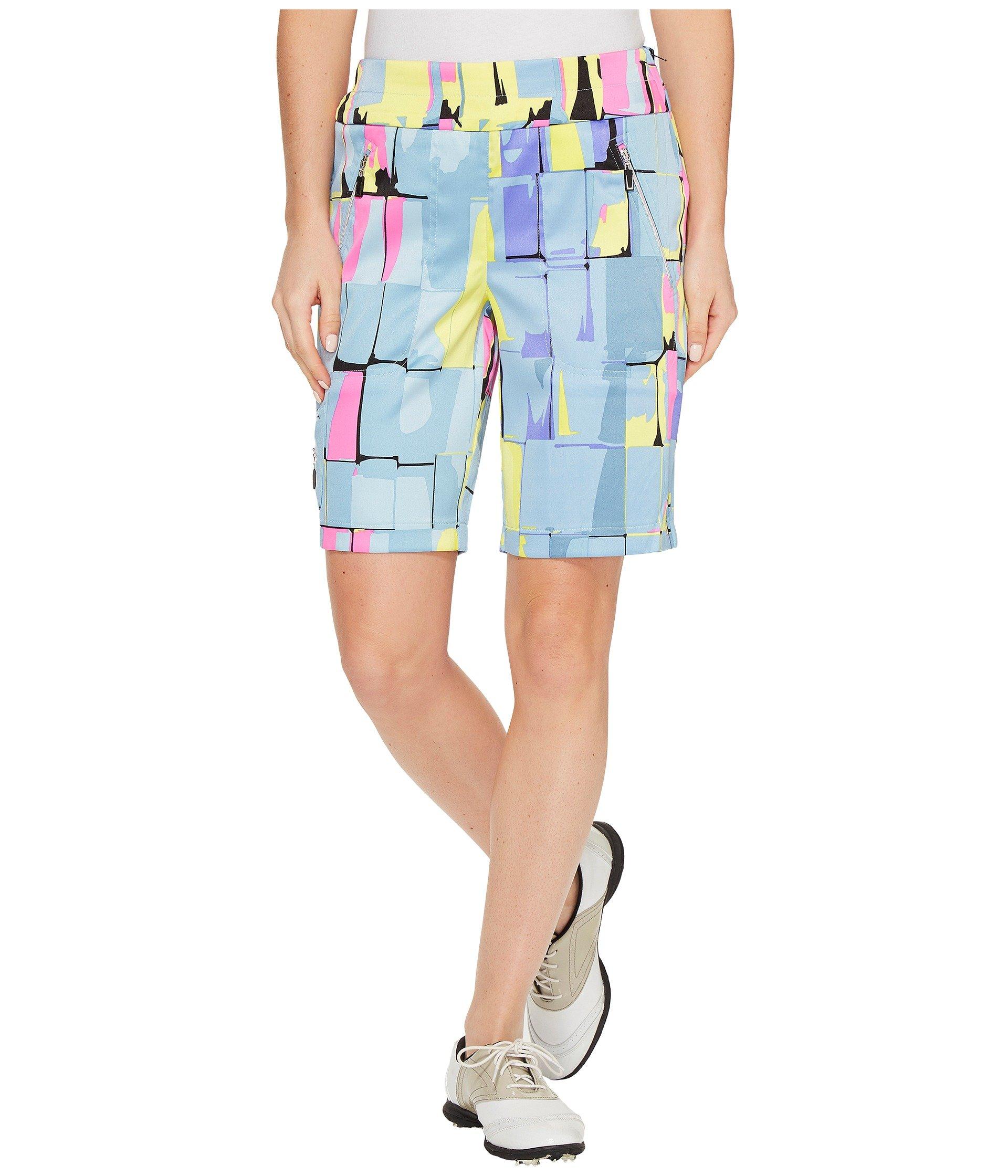 Jamie Sadock Women's Skinnylicious Digi Box Print 19'' Shorts Angelic Shorts