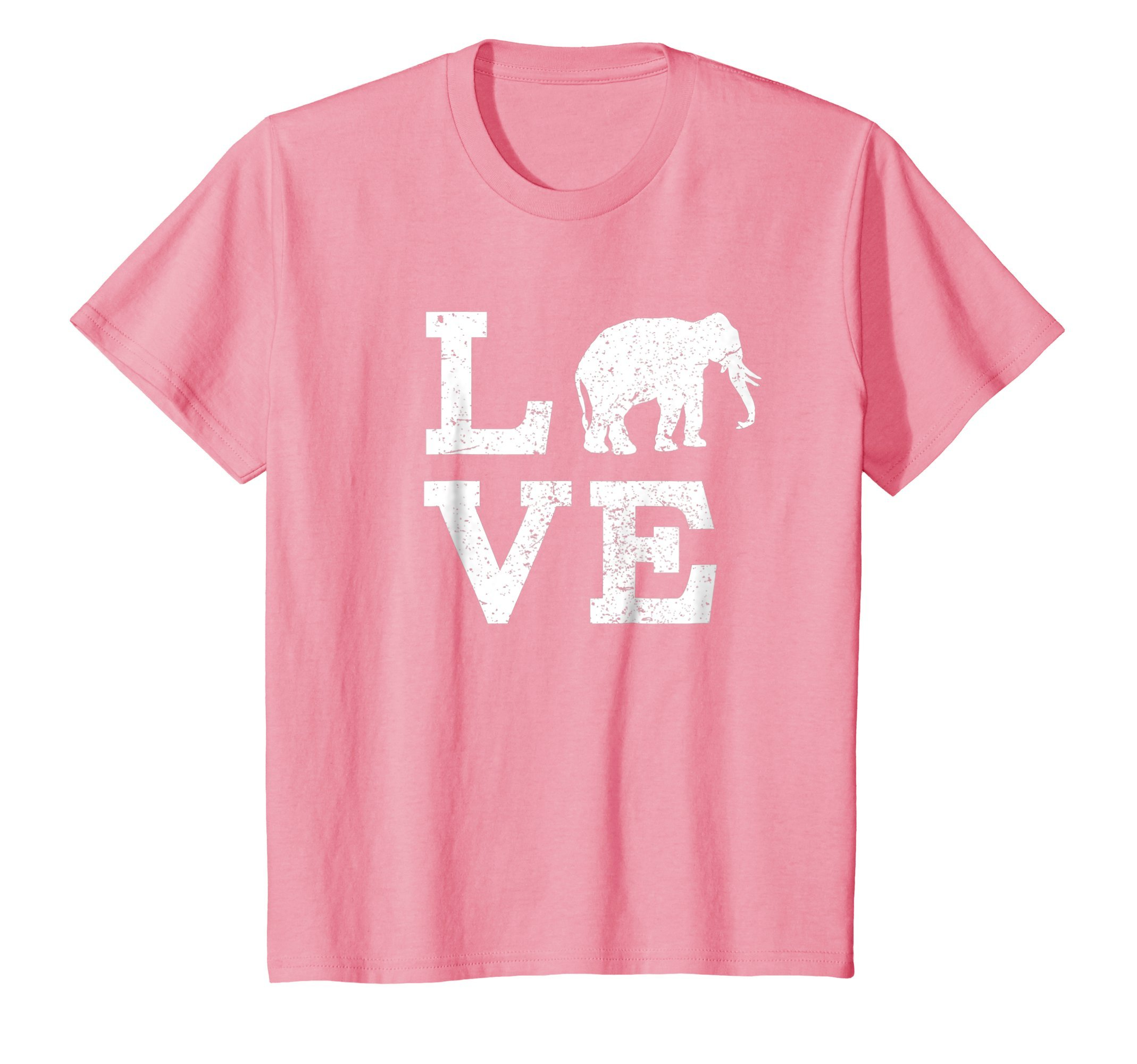 Kids I Love Elephants T-Shirt Funny 12 Pink by I Love Animals Shirt (Image #1)