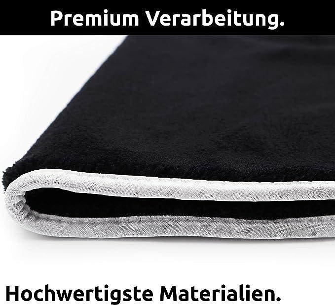 Cleaneed Premium 4x StÜck 1200gsm Mikrofasertücher Set Extra Flauschig Saugstark Fusselfreie Auto Poliertücher Trockentuch Auto