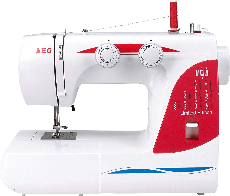 AEG Maquina de Coser AEG-124, blanco, 43