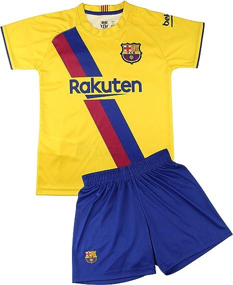 Kit Camiseta y Pantalón Infantil Segunda Equipación - FC Barcelona - Réplica Autorizada: Amazon.es: Deportes y aire libre