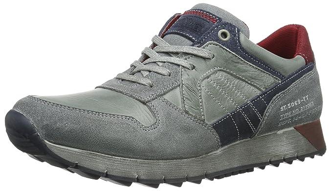 13605, Zapatillas para Hombre, Gris (Grey Comb 201), 42 EU s.Oliver