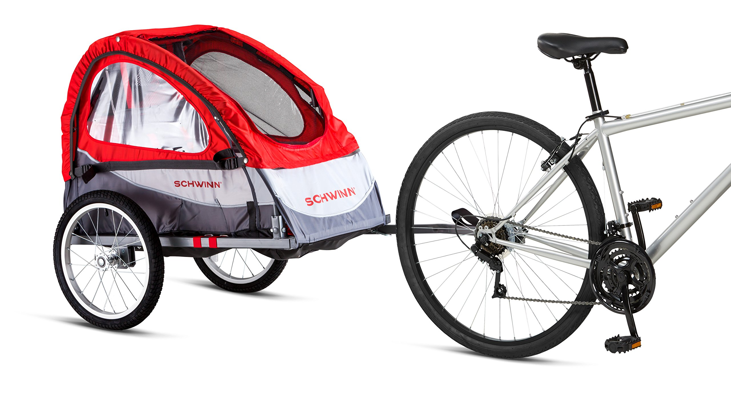 Schwinn Trailblazer Single Bike Trailer with Quick-Release Wheels, 16'' Wheels by Schwinn