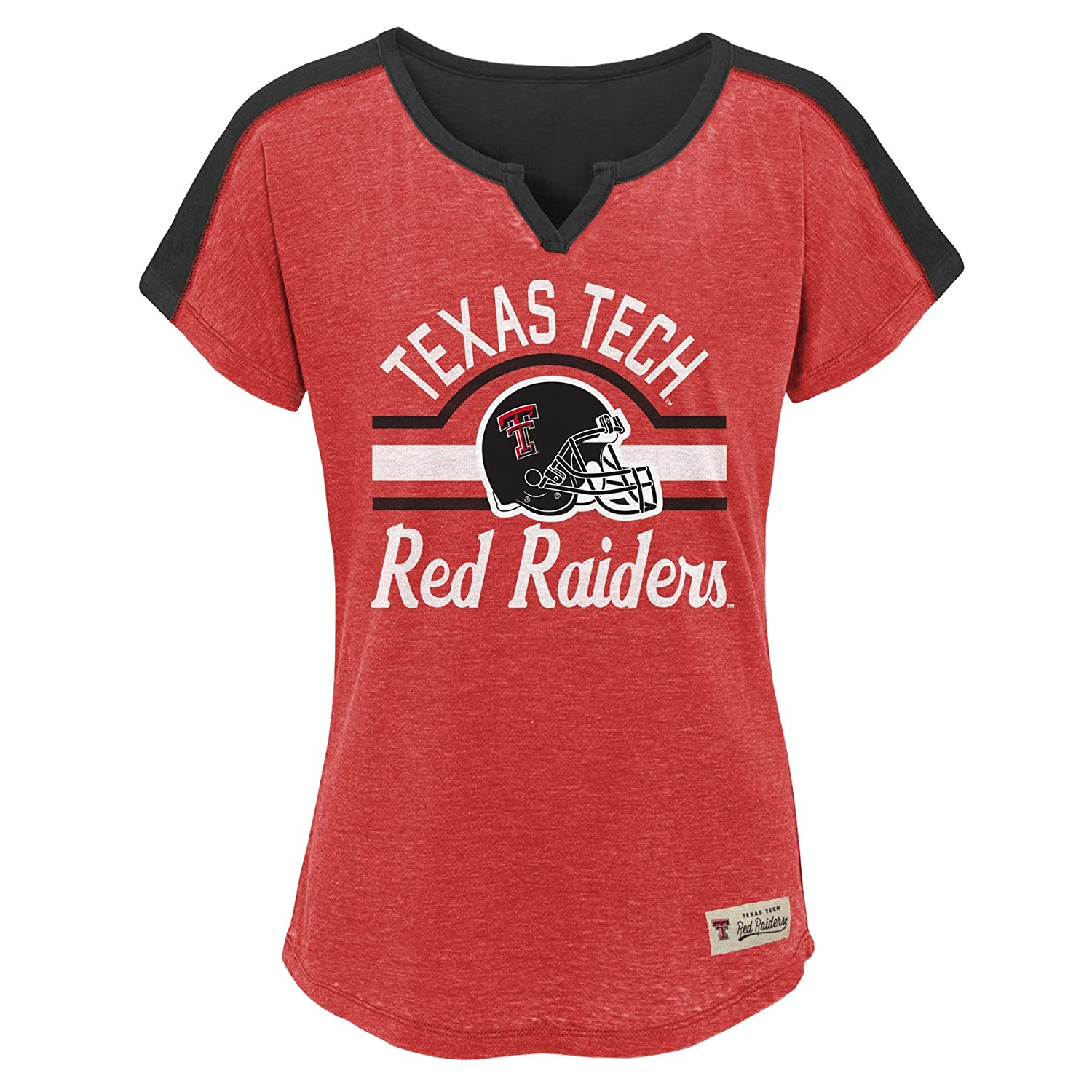 NCAA by Outerstuff NCAA Texas Tech Red Raiders Youth Girls Tribute Raglan Football Tee Red Youth Large 14