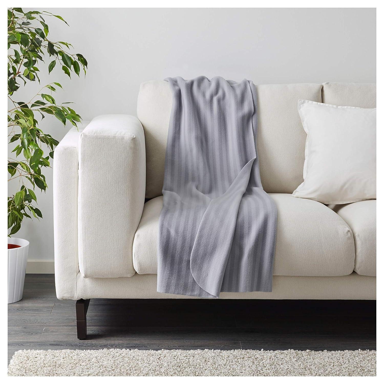 Ikea VITMOSSA - Manta para sofá (Forro Polar, 120 x 160 cm, 2 Unidades), Color Gris: Amazon.es: Hogar