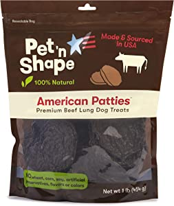 Pet 'n Shape All American Beefy Patty Dog Treats – Made and Sourced in The USA