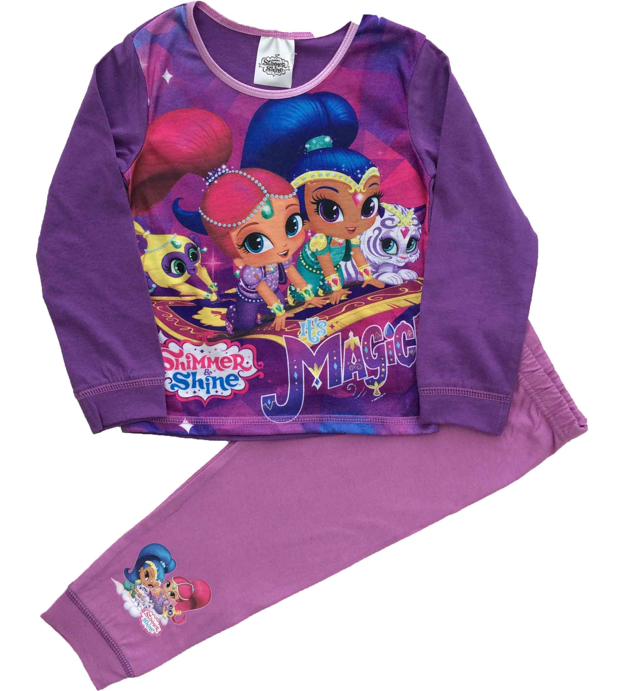 Girls Shimmer /& Shine Nightie Shimmer and Shine Nightdress Ages 2 to 6 Years