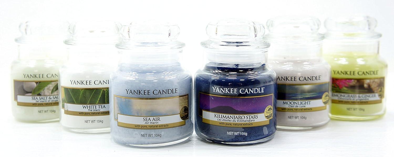 Candele Originali Yankee Candle - Confezione regalo con selezione di 6 candele con fresche fragranze classiche, nel caratteristico barattolo (formato piccolo) My Planet Yankee Candle