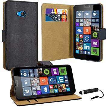 finest selection 3b6cd 24d6b Case Collection Premium Leather Folio Cover for Microsoft Lumia 640 Case  Magnetic Closure Full Protection Book Design Wallet Flip with [Card Slots]  ...