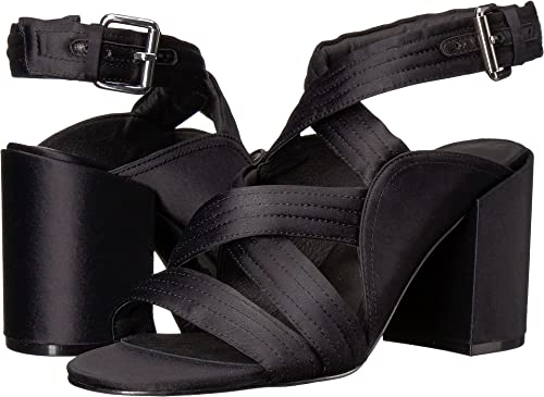 d6683d05885 Sol Sana Women s Gabby Heel Black Satin 36 ...