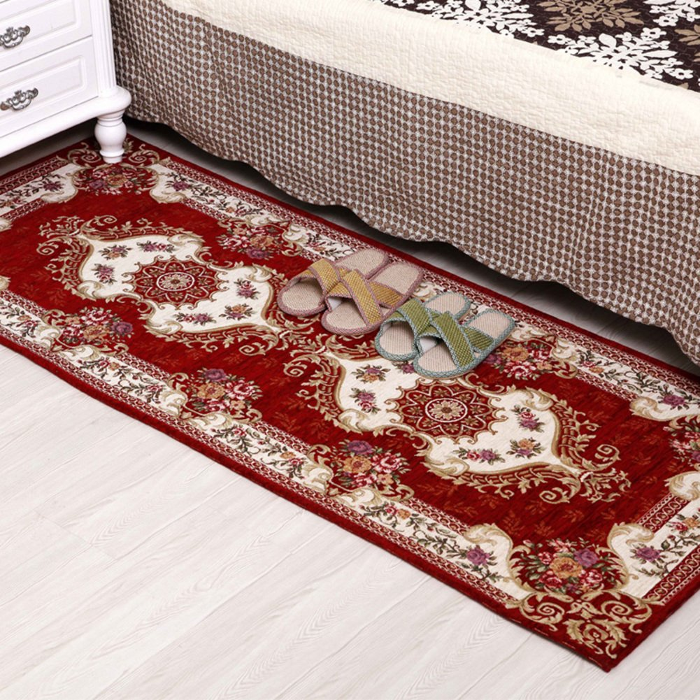 DXG&FX European carpet kitchen bedroom bed mat anti-slipping toilet bathroom mat coffee table blanket-D 75x180cm(30x71inch)