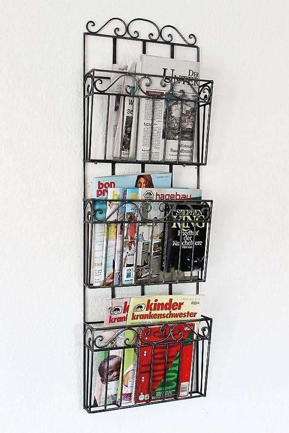 Estanter/ía de pared revistero 09912 revistero de 70 cm de papel de cocina estante para peri/ódicos de soporte