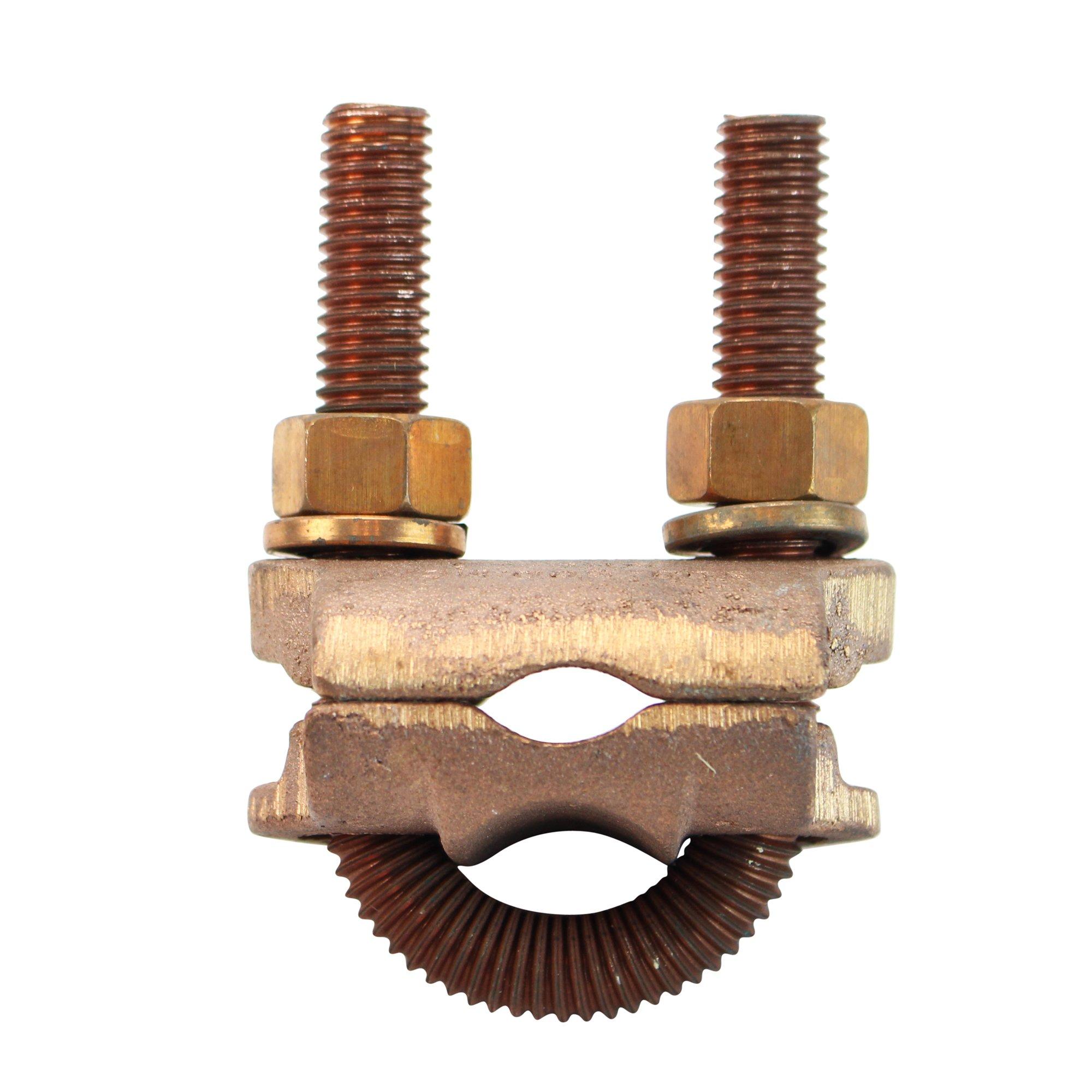 Penn-Union GPL 7 Bronze Ground Clamp Connector 1/2'' U-Bolt Threaded Silicon Bronze