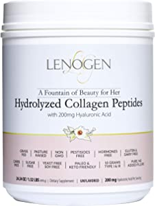 Collagen Powder for Women. Non-GMO, Zero Fillers, Sugar & Carbs Free, Paleo & Keto Diets Friendly, Peptides & Hyaluronic Acid, Bone Broth, 60 Servings - 1.52 LBS -Unflavored.