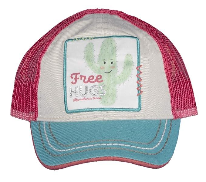 sale retailer 6ceef 8ea0b Farm Girl Infant Cactus Free Hugs Patch Trucker Cap-Sherbet  Pink-Newborn Infant