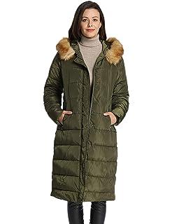 5e94d0fd9807 Amazon.com  Misaky Women s Snow Coat Long Down Jacket Puffer Thicker ...
