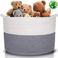 "XXXLarge Cotton Rope Basket | Wide 22"" x 22"" x 14"" | 100% Cotton | Woven Storage Basket Extra Large Storage Bin Large Blanket Basket Laundry Hamper Basket Toy Storage Basket (by ECOFRIENDLY4LIFE)"
