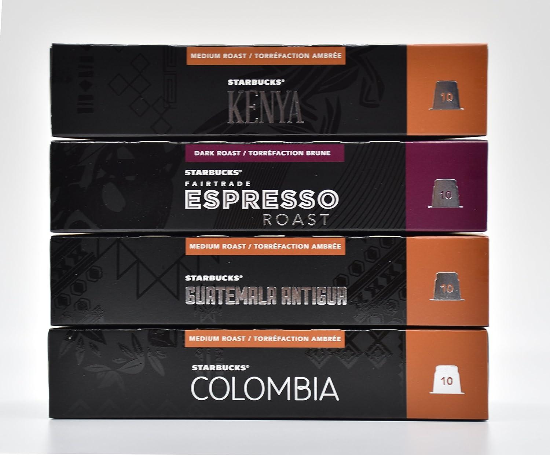 Starbucks Nespresso Espresso Selection Coffee Set 4 Flavour ...