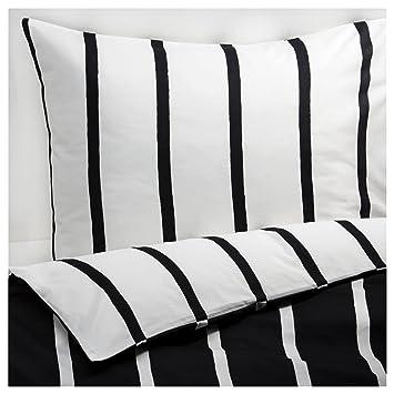 Ikea Tuvbracka Schwarz Weiß Moderne Full Queen Bettwäsche Set