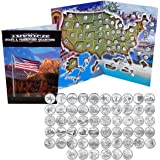 1999 - 2009 Complete Uncirculated State Quarter Set with Folder by 1st Commemorative