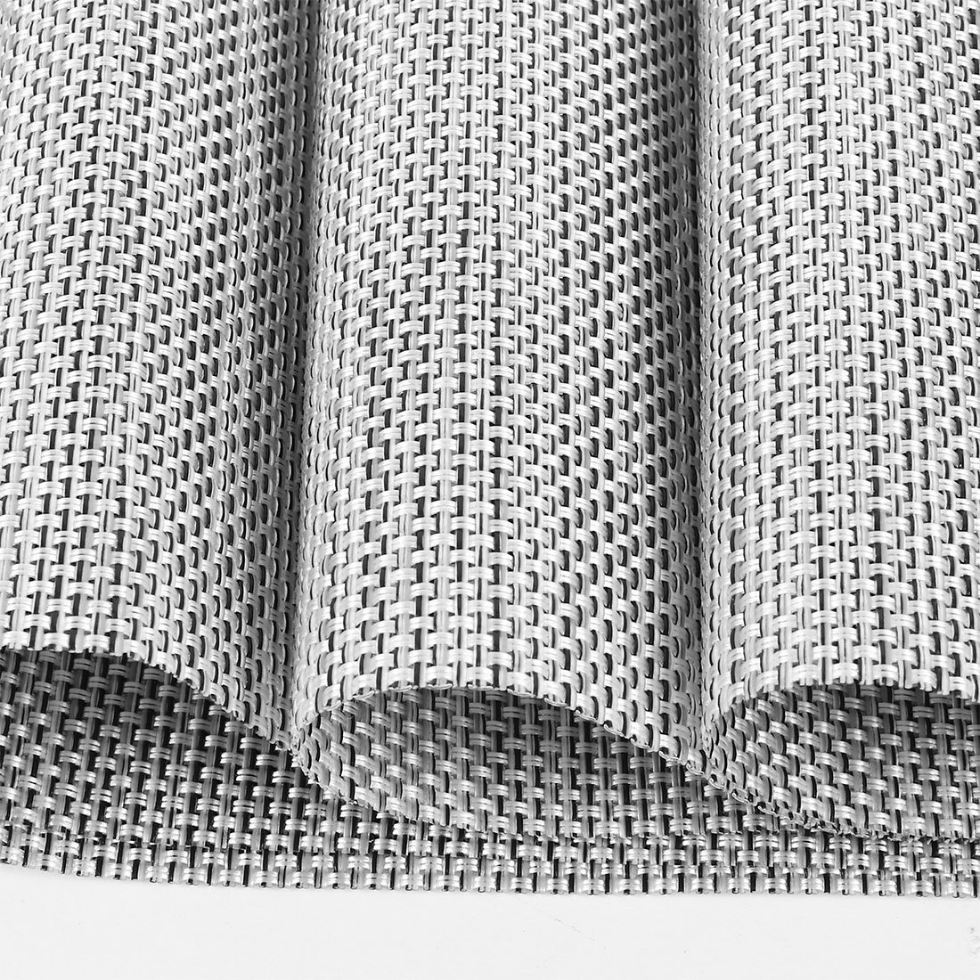 Placemats,HQSILK Table Mats,Placemat Set of 6 Non-Slip Washable Place Mats,Heat Resistant Kitchen Tablemats for Dining Table (Gray) by HQSILK (Image #3)