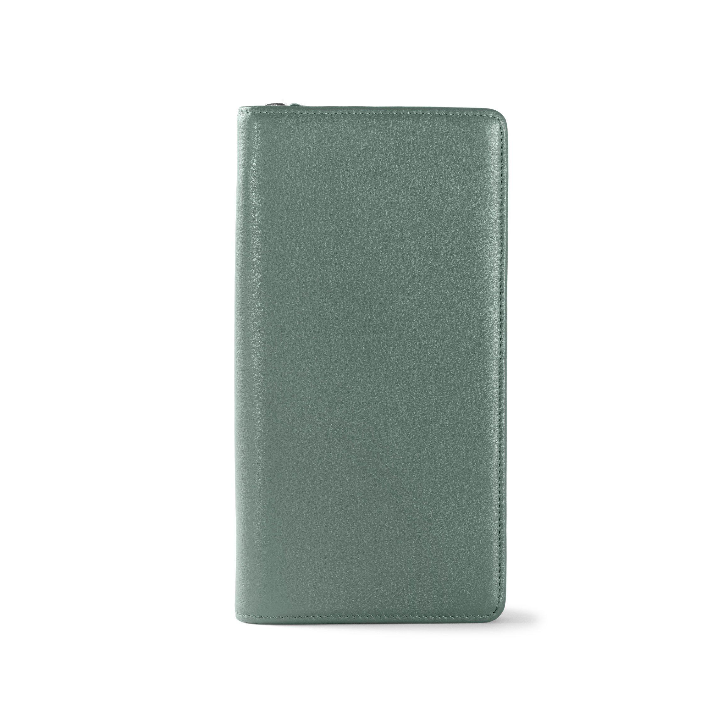 Zip Around Travel Wallet - Full Grain Leather Leather - Dusk (blue)