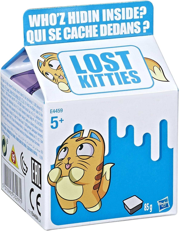 Lost Kitties gatito caja sorpresa colección individual, multicolor (Hasbro E4459EU4) , color/modelo surtido