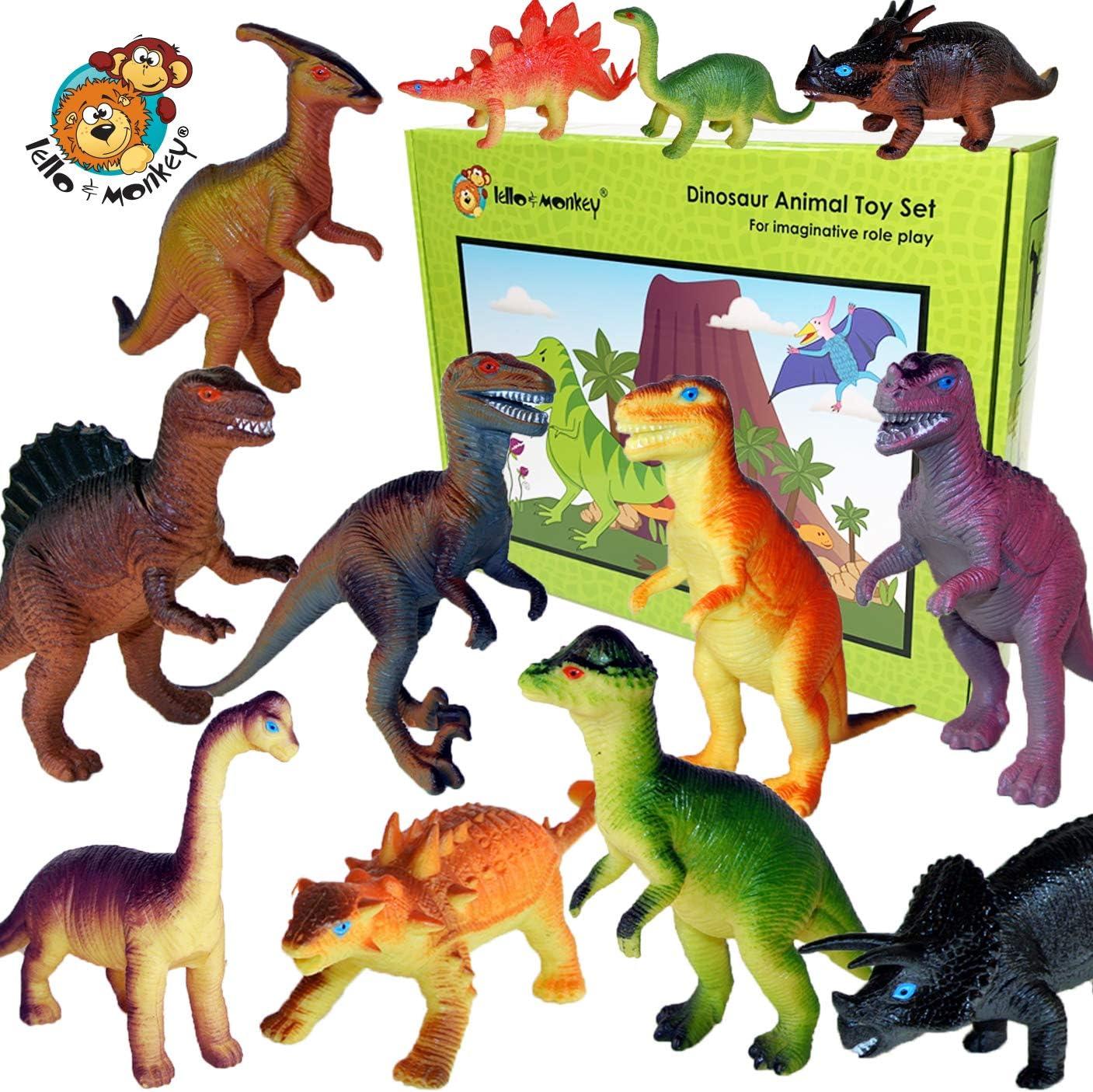 Dinosaurios de Juguete (15cm) conjunto de 12 Figuras Grandes de Dinosaurio de Plástico