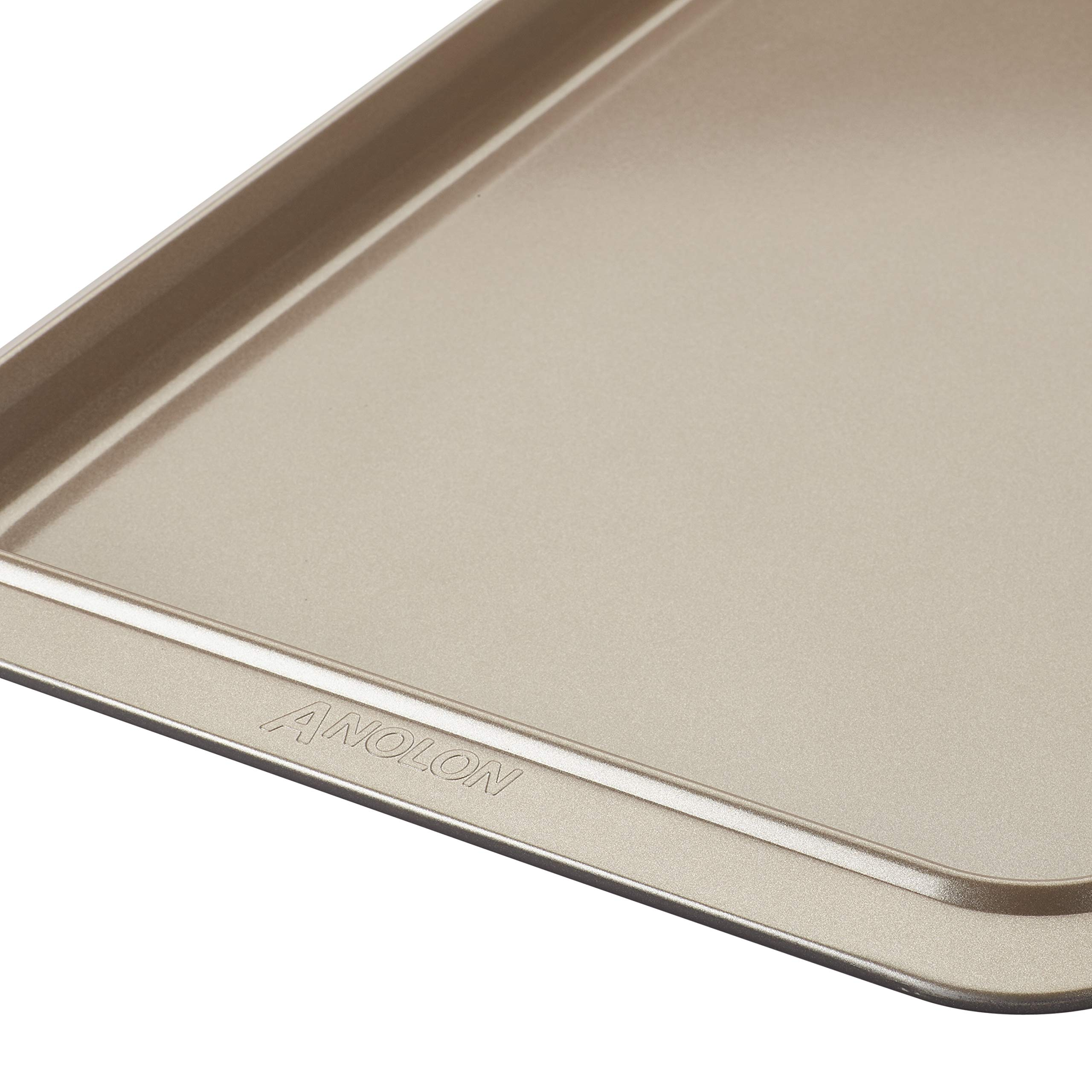 Anolon Eminence Nonstick Bakeware Cookie Pan, 11-Inch x 17-Inch, Onyx with Umber Interior by Anolon (Image #4)