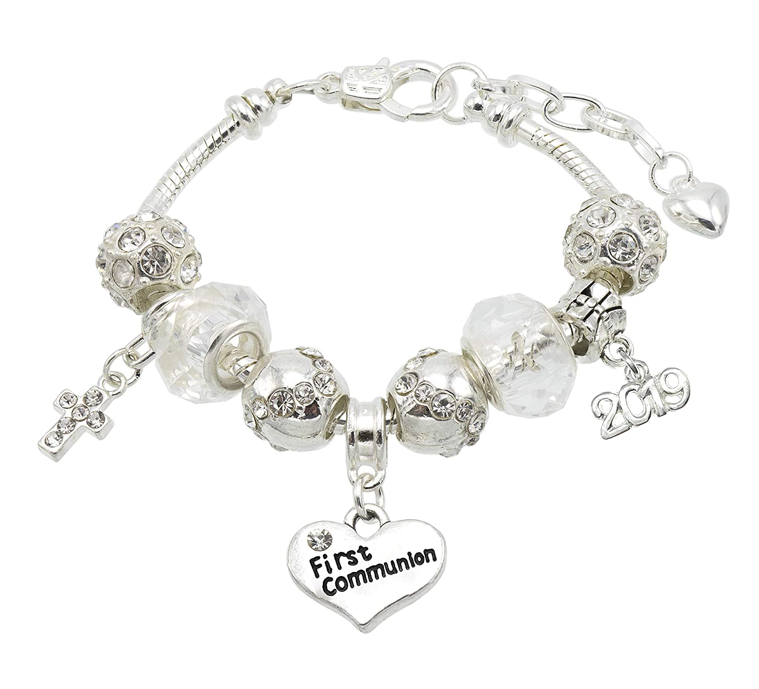 Jewellery Hut First Holy Communion 'Sparkle' Bracelet with Communion Card and Gift Box