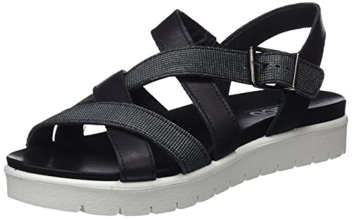 Womens Dsn 11712 Open Toe Sandals, Black Igi & Co