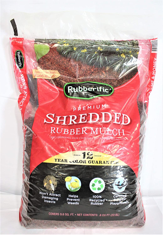 Rubberific Mulch RM16RW Rubber Mulch, Redwood