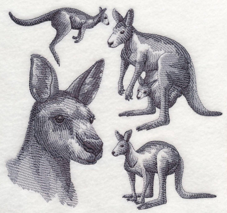 Kangaroo Custom Embroidered Sweatshirt Shirt