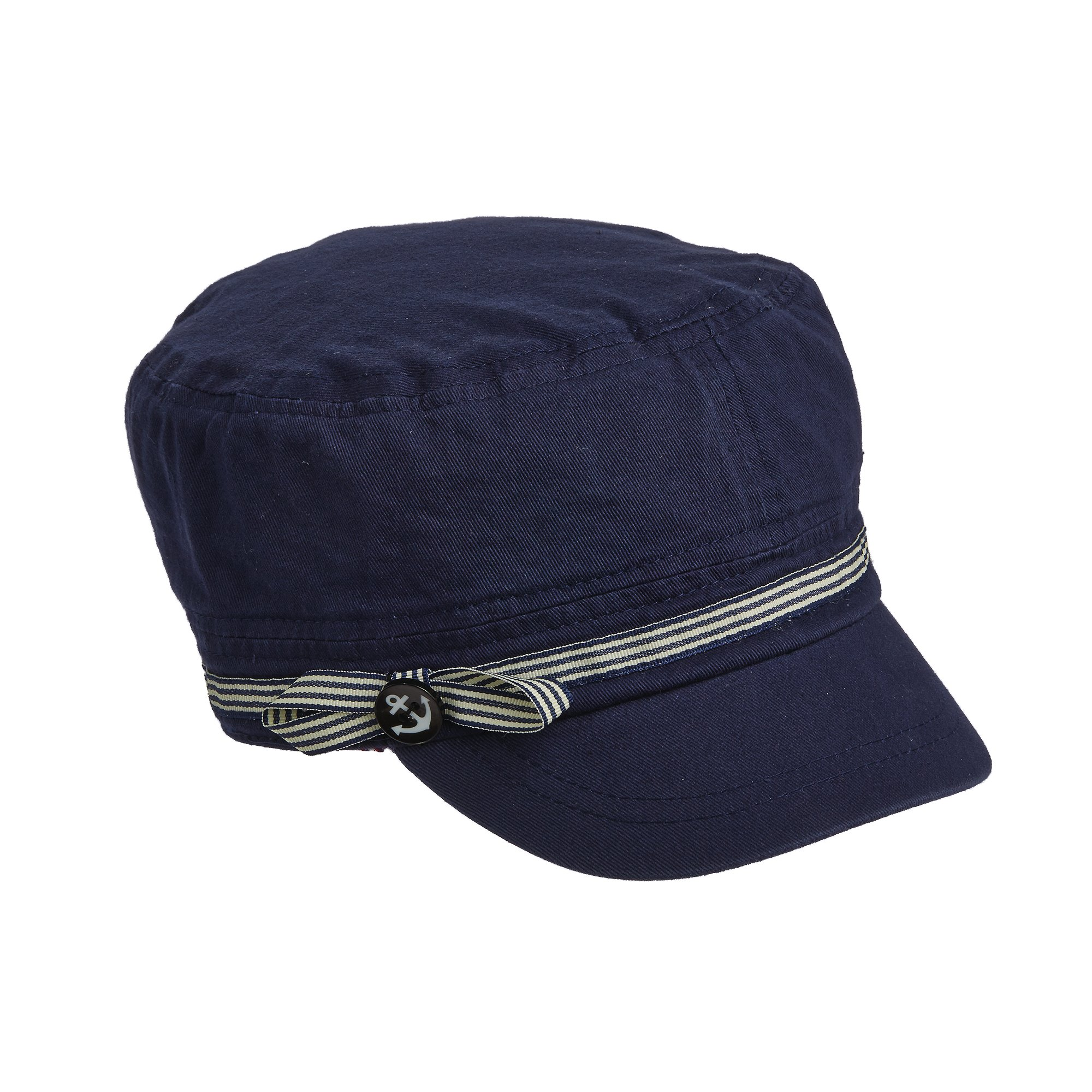 TROPICAL TRENDS CADET WITH ANCHOR BUTTON (NAVY)