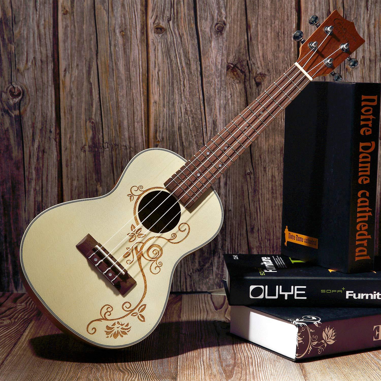 Ukelele,Hricane Ukeleles Concierto 23 Pulgadas Instrumento de Picea, Ukulele Profesional para Principiantes (23 Pulgadas/Picea): Amazon.es: Instrumentos ...