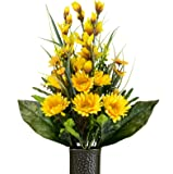 Gerbera Daisy Mix Artificial Bouquet, featuring the Stay-In-The-Vase Design(c) Flower Holder (SM2098)