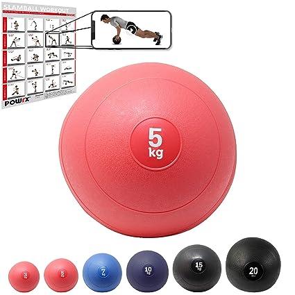 POWRX - Slam Ball Balón Medicinal 3-20 kg - Ideal para Ejercicios ...