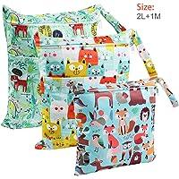 Bolsa de Pañales, BelleStyle 3 Pcs Reutilizable Wetbag
