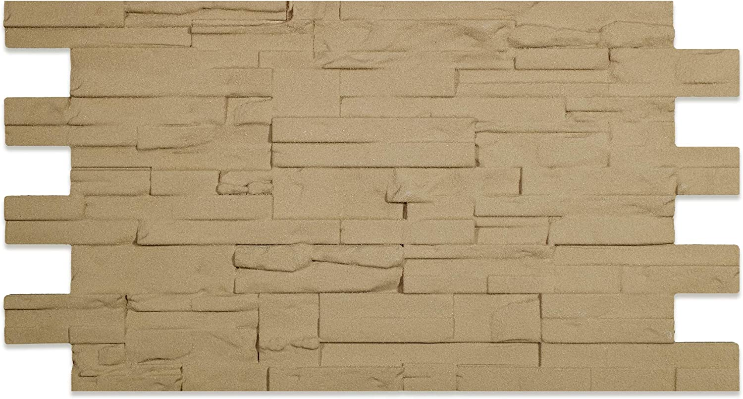 Polystyrene Faux Stone Wall Cladding Panel Tuf 110 Cm X 56 Cm Amazon Co Uk Diy Tools